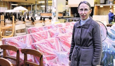Roye Haugh, manager of Otago Furniture: the company concentrates on supplying to commercial and retail customers. Photo: ©Otago Daily Times