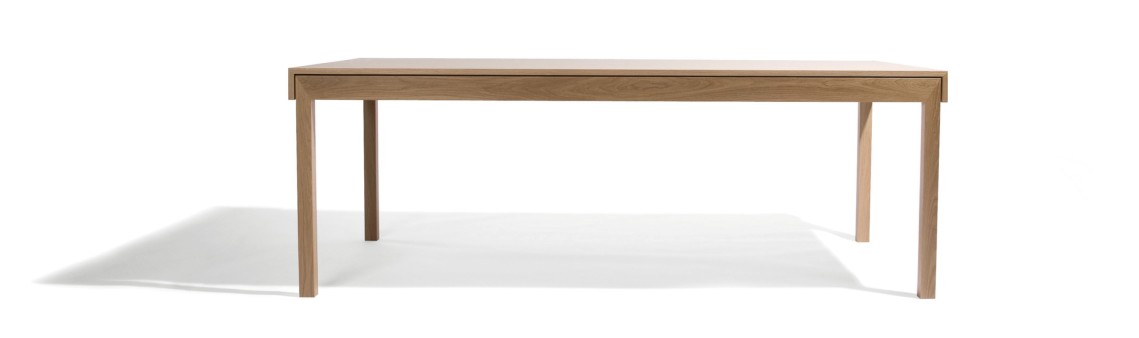 """L dining table: available in a variety of sizes and finishes that make it """"a versatile option for the home or workplace"""". Photo: © David Moreland Design"""