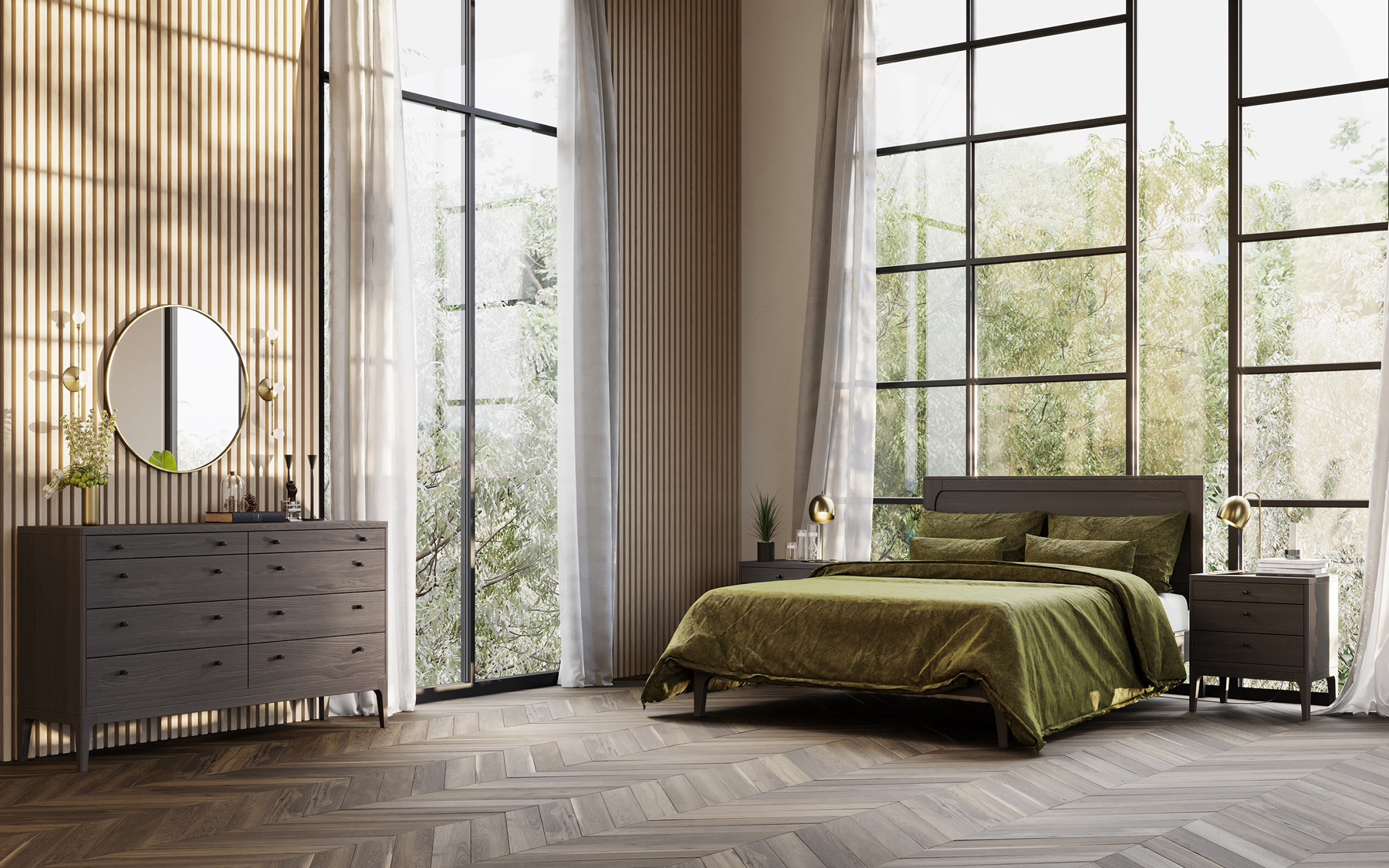 The Brooklyn bedroom collection offers a simple, well-proportioned modern look.