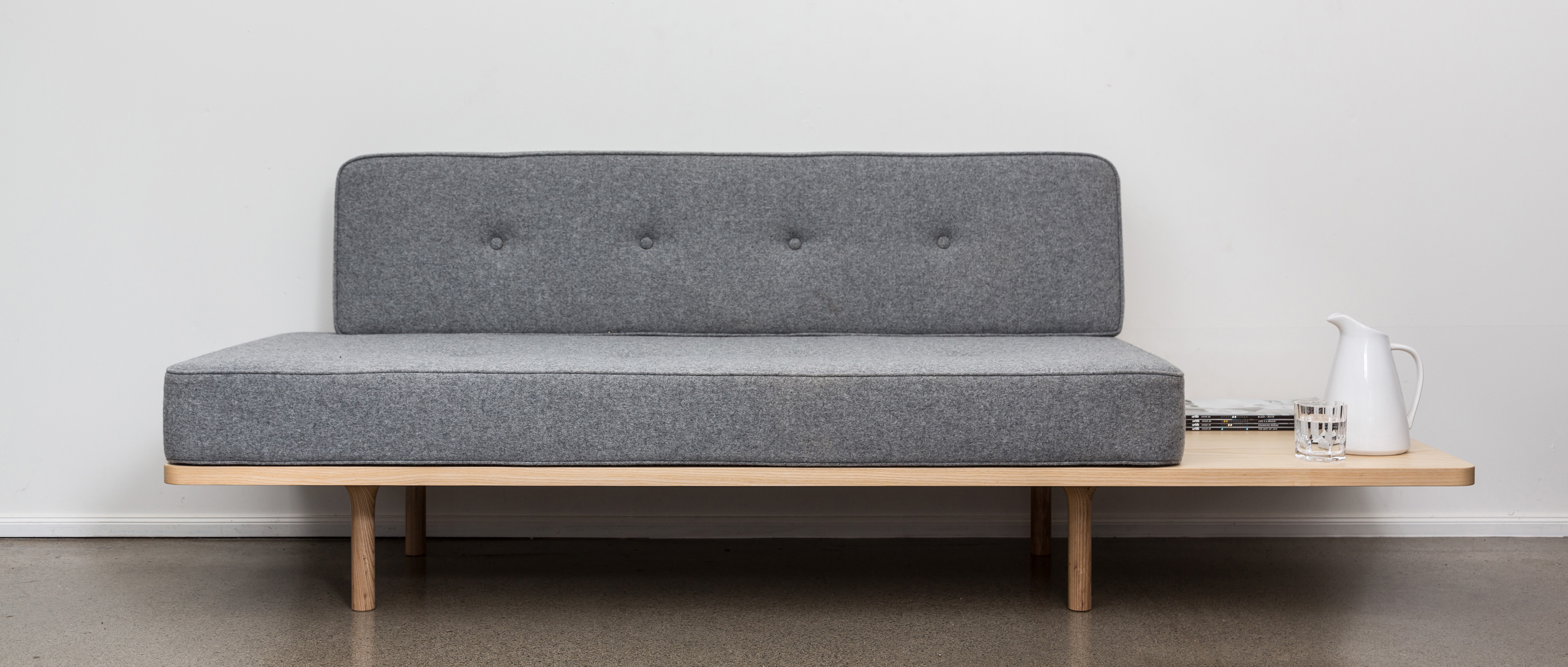 Stylish and comfortable, the Welcome couch comes with an optional extended base. Photo: © The Earnest Workshop