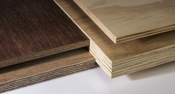 Plywood manufactured from bioadhesives